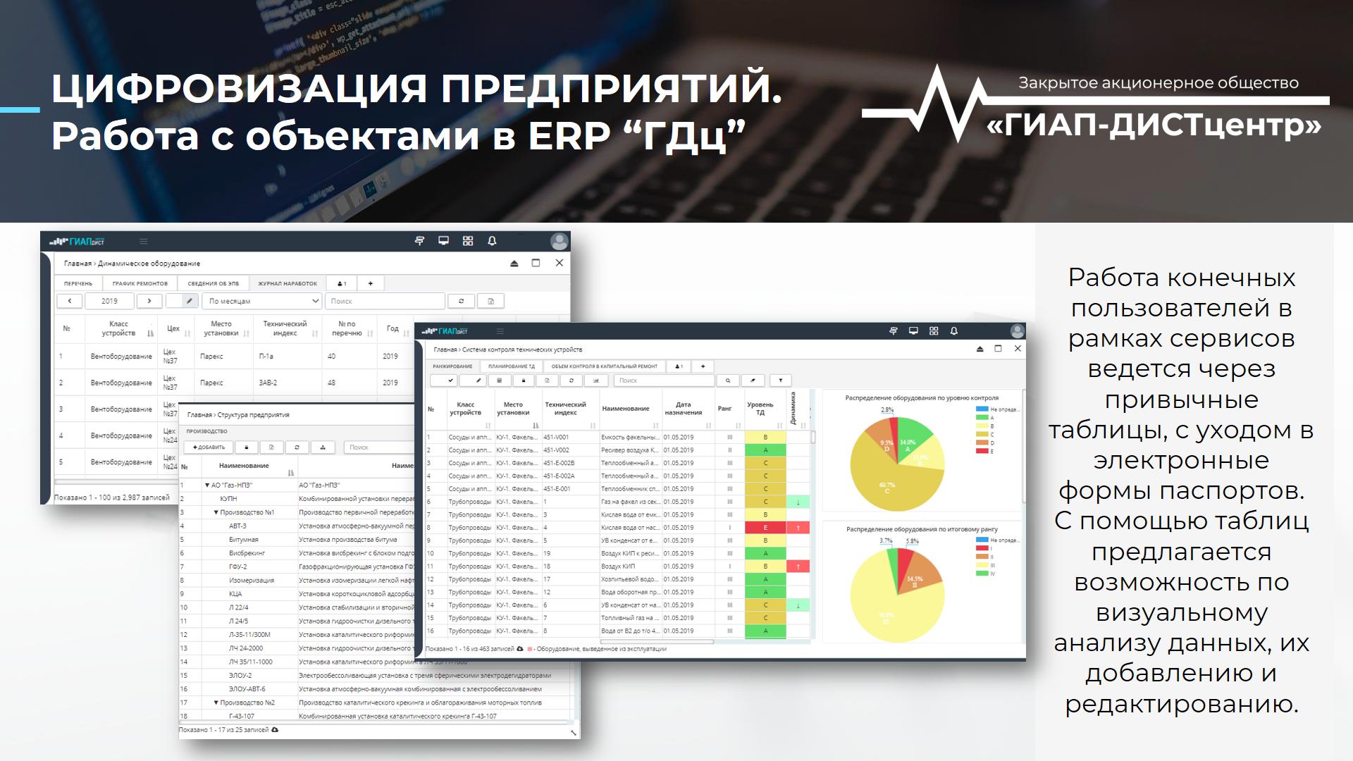 Работа с объектами в ERP-GDc