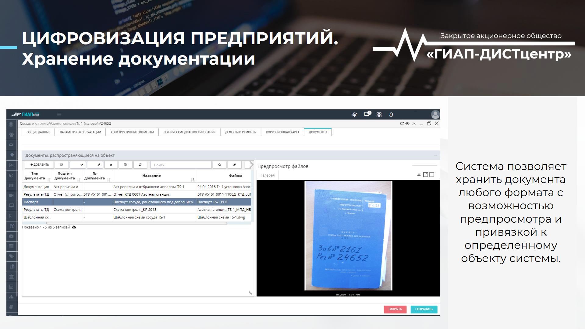 Цифровизация и хранение документации