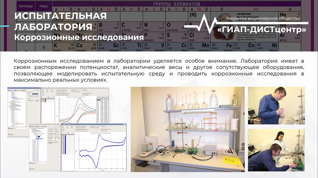 Испытательная лаборатория. Коррозионные исследования